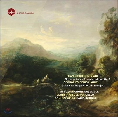 Four Nations Ensemble 제미니아니: 여섯 개의 첼로 소나타 / 헨델: 하프시코드 모음곡 5번 (Geminiani: Sonatas for cello Op. 5)