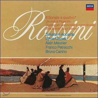 Salvatore Accardo 로시니: 현악 소나타 - 살바토레 아카르도 (Rossini: Sonate a quattro)[LP]