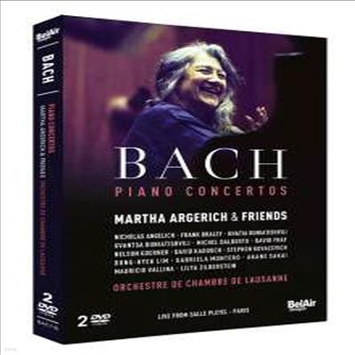 바흐: 피아노 협주곡집 (Bach: Piano Concertos BWV 1054 - 1058 & BWV 1061 - 1065) (2DVD) (2015)(DVD) - Martha Argerich