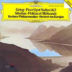 Grieg : Peer Gynt Suites 1&2ㆍSibelius : Pelleas et MelisandeㆍBerlin Philharmonic / Karajan