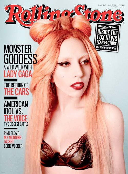 Rolling Stones 일본 2011년 9월, 레이디가가 표지모델