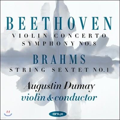 Augustin Dumay 베토벤: 바이올린 협주곡, 교향곡 8번 / 브람스: 현악6중주 1번 - 오귀스탱 뒤메이 (Beethoven: Violin Concerto Op.61, Symphony No.8 / Brahms: String Sextet No.1)