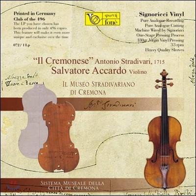 Salvatore Accardo 크라이슬러: 스트라디바리 명 바이올린 '일 크레모네세' 연주집 [LP]