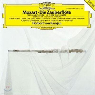 Mozart : Die Zauberflote (Highlights) : Karajan