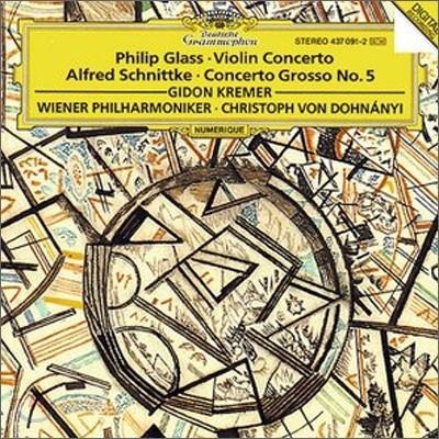 Gidon Kremer 필립 글래스: 바이올린 협주곡 / 알프레드 슈니트케: 콘체르토 그로소 5번 (Philip Glass: Violin Concerto / Alfred Schnittke: Concerto Grosso No.5) 기돈 크레머