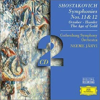 Shostakovich : Symphonien No. 11 & No. 12 : Jarvi