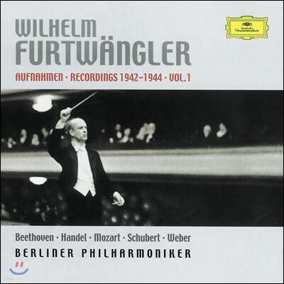 푸르트벵글러 1942-1944년 1집 - 베를린 라이브 (Wilhelm Furtwangler Recordings 1942-1944 Vol. 1)