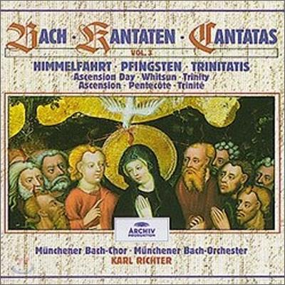 Karl Richter 바흐: 칸타타 3집 - 승천축일, 성령 강림절, 삼위일체 (Bach : Cantatas Vol.3 - Ascension Day, Whitsun, Trinity) 칼 리히터