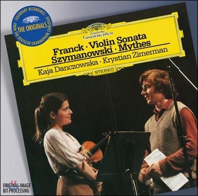 Kaja Danczowska / Krystian Zimerman 프랑크: 바이올린 소나타 / 시마노프스키: 신화 (Franck / Szymanowski: Works for Violin and Piano)