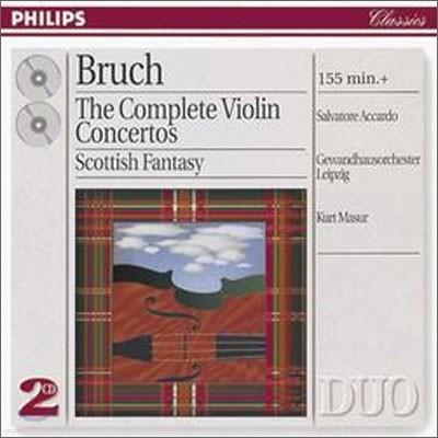 Salvatore Accardo / Kurt Masur 브루흐: 바이올린 협주곡 전곡집 - 아카르도, 마주어