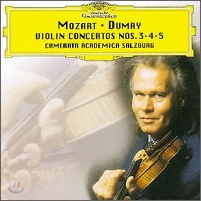 Mozart : Violin Concertos Nos.3ㆍ4ㆍ5 : Dumay