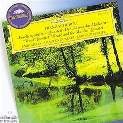 Emil Gilels / Amadeus Quartet 슈베르트: 피아노 5중주 '송어', 현악 4중주 '죽음과 소녀' (Schubert: 'Trout' Quintet, `Death and the Maiden`) 에밀 길렐스, 아마데우스 사중주단