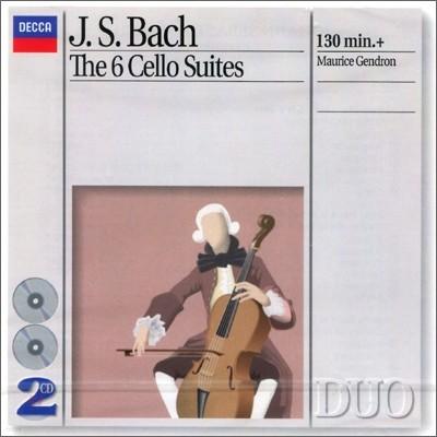 Maurice Gendron 바흐 : 무반주 첼로 모음곡 (Bach : The 6 Cello Suites) 모리스 장드롱