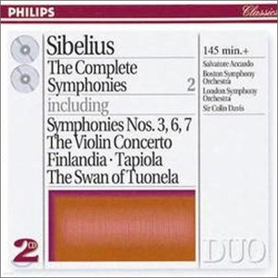 Sibelius : The Complete Symphonies, etc. Vol.2 : AccardoㆍDavis