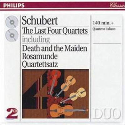Quartetto Italiano 슈베르트: 후기 현악 사중주 - 죽음과 소녀, 로자문데 (Schubert: The Last Four Quartets)