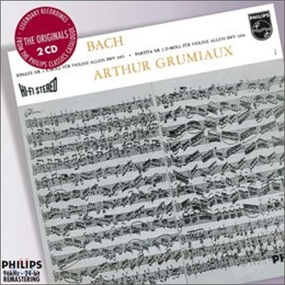 바흐 : 무반주 바이올린을 위한 소나타와 파르티타 - 아르투르 그뤼미오