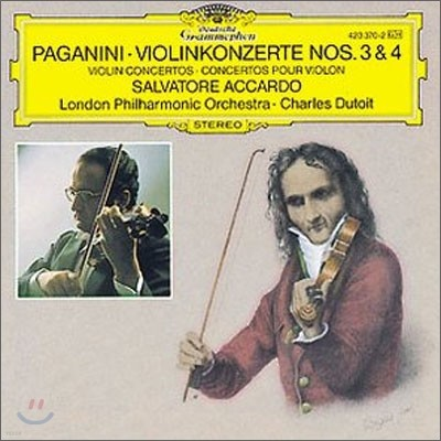Paganini : Violin Concertos Nos.3 & 4 : Salvatore AccardoㆍCharles Dutoit