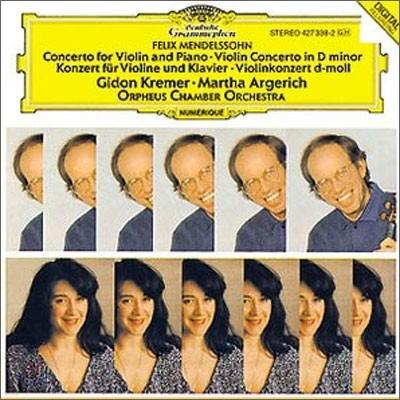 Gidon Kremer/ Martha Argerich 멘델스존 : 바이올린과 피아노를 위한 협주곡 (Mendelssohn : Concerto For Violin And PianoㆍConcerto In D Minor) 기돈 크레머, 마르타 아르헤리치