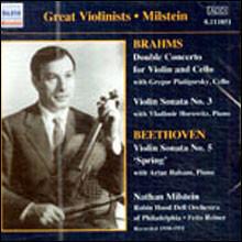 Nathan Milstein 브람스: 이중 협주곡 / 베토벤: 바이올린 소나타 봄 (Brahms: Double Concerto / Beethoven: Violin Sonata No.5 'Spring')