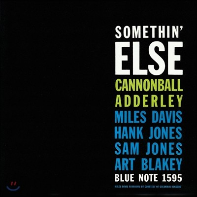 Cannonball Adderley (캐넌볼 애덜리) - Somethin' Else [RVG Edition]