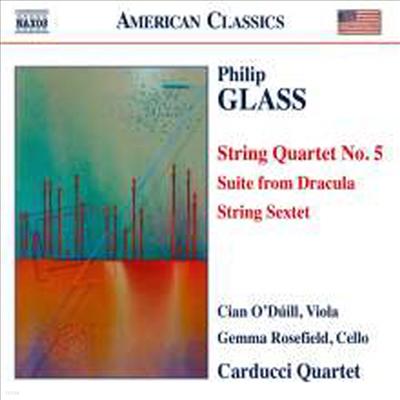 글래스: 현악 사중주 5번, 드라큘라 모음곡 (Glass: String Quartet No.5, Film Music 'Dracula' Suite)(CD) - Carducci String Quartet