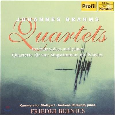 Frieder Bernius 브람스 : 네 명의 성악과 피아노를 위한 사중창집 (Brahms: Quartets For Four Voices & Piano)