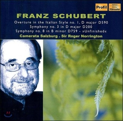 Roger Norrington 슈베르트: 교향곡 3번, 8번 '미완성' (Schubert: Symphonies D200, D759 Unfinished)