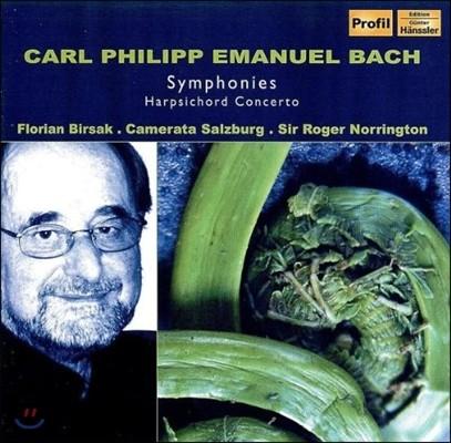 Roger Norrington 칼 필립 엠마누엘 바흐: 교향곡, 하프시코드 협주곡 (C.P.E. Bach: Symphonies, Harpsichord Concerto)