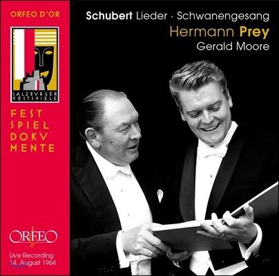 Hermann Prey 슈베르트: 백조의 노래 - 1964년 공연 실황 (Schubert: Schwanengesang D.957)