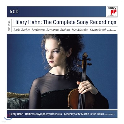Hilary Hahn 힐러리 한 소니 레코딩 전집 (The Complete Sony Recordings - Bach / Barber / Brahms)