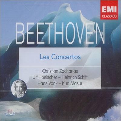 Beethoven : Les Concertos : ZachariasㆍHoelscherㆍSchiffㆍVonkㆍMasur
