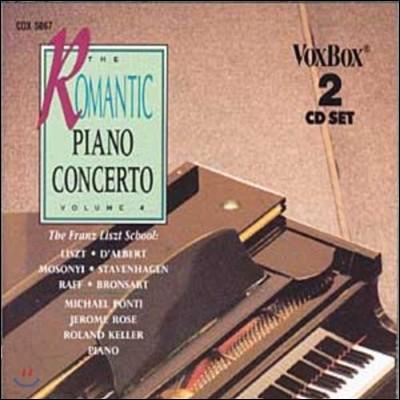 낭만파 피아노 협주곡 4집 - 리스트 / 달베르 / 라프 / 모조니 (The Romantic Piano Concerto Vol.4 - Liszt / Eugen D'Albert / Raff / Mosonyi)