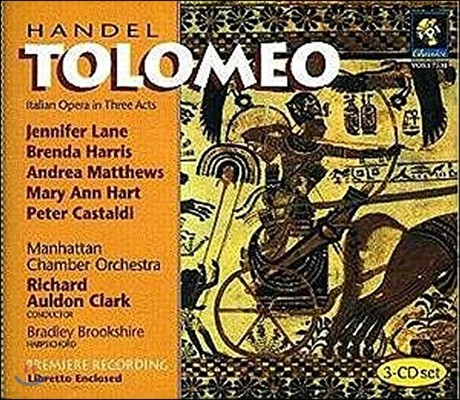 Richard Auldon Clark / Jennifer Lane 헨델: 오페라 '톨로메오' (Handel: Tolomeo)