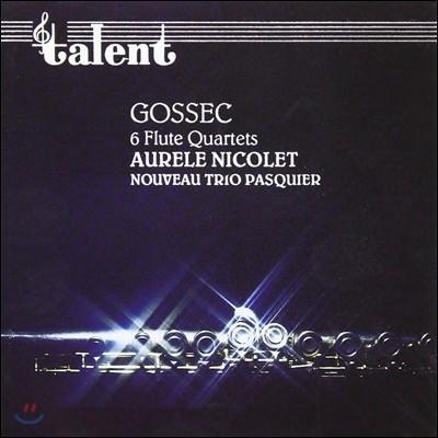 Aurele Nicolet 고섹: 플루트 사중주 (Gossec: 6 Flute Quartets)