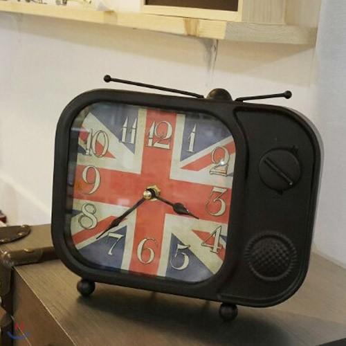앤틱한 TV 스탠드 시계 블랙