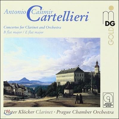 Dieter Klocker 카르텔리에리: 클라리넷 협주곡 1번, 3번 (Cartellieri: Clarinet Concertos)