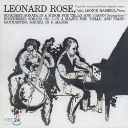 Schubert / Boccherini / Sammartini : Sonata : Leonard Rose