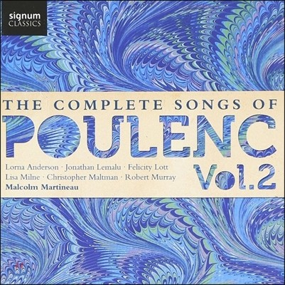 Felicity Lott / Malcolm Martineau 풀랑크: 가곡 전곡 2집 (The Complete Songs of Poulenc Vol.2)