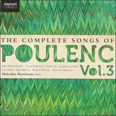 Lisa Milne / Malcolm Martineau 풀랑크: 가곡 전곡 3집 (The Complete Songs of Poulenc Vol.3)