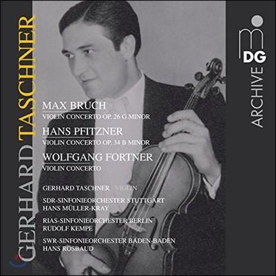 Gerhard Taschner 게하르트 타슈너 - 브루흐 / 피츠너 / 포트너: 바이올린 협주곡 (Bruch / Pfitzner / Fortner: Violin Concertos)