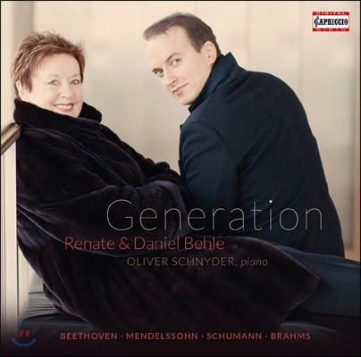 Daniel Behle / Renate Behle 제너레이션 - 베토벤 / 브람스 / 슈만: 가곡집 (Generation - Beethoven / Brahms / Schumann: Lieder)