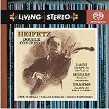 Jascha Heifetz 바흐 : 2대의 바이올린 협주곡 / 모차르트 : 신포니아 콘체르탄테 / 브람스 : 더블 협주곡 (Bach : 2 Violin Concerto / Mozart : Sinfonia Concertante / Brahms : Double Concerto) SACD