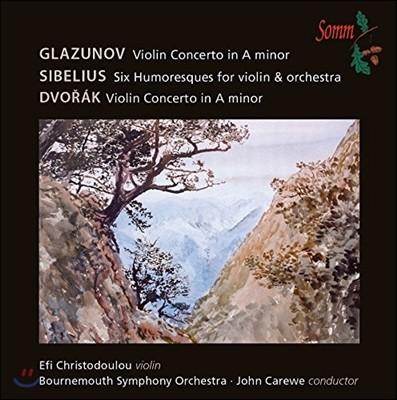 Efi Christodoulou 글라주노프 / 드보르작: 바이올린 협주곡 (Glazunov / Dvorak: Violin Concertos)