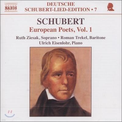 Ulrich Eisenlohr 슈베르트: 유러피안 시로 만든 가곡 1집 (European Poets Vol. 1)