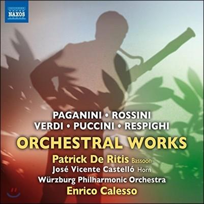 Enrico Calesso 로시니 / 파가니니 / 베르디 / 푸치니: 관현악 작품 (Italian Orchestral Works - Paganini / Rossini / Verdi / Puccini / Respighi)