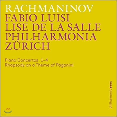 Lise de la Salle / Fabio Luisi 라흐마니노프: 피아노 협주곡 전곡, 파가니니 광시곡 (Rachmaninov: Piano Concertos, Rhapsody on a Theme of Paganini) 리즈 드 라 살