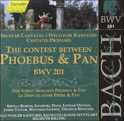 Helmuth Rilling 바흐: 세속 칸타타 '아폴로[포이보스]와 판의 싸움' (Bach: Secular Cantatas 'Contest Between Phoebus & Pan' BWV201)