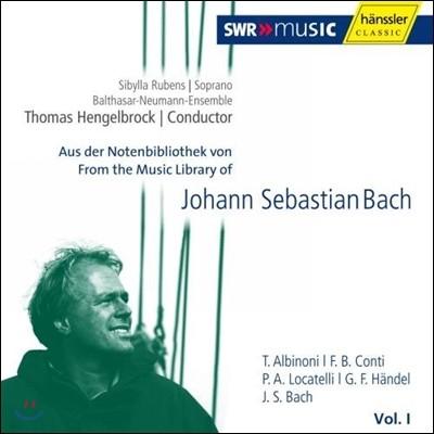 Thomas Hengelbrock 바흐의 음악 도서관 1집 - 알비노니 / 몬티 / 로카텔리 (From The Music Library of J.S.Bach Vol.1)