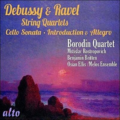 Borodin Quartet 드뷔시 / 라벨: 현악사중주 - 보로딘 사중주단 (Debussy / Ravel: String Quartets, Cello Sonata, Introduction & Allegro)