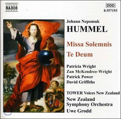 Uwe Grodd 훔멜: 장엄 미사, 테 데움 (Johann Nepomuk Hummel: Missa Solemnis, Te Deum)